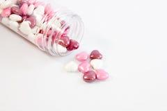 Plan rapproché de coeur de sucrerie d'amour Image libre de droits