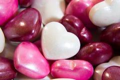 Plan rapproché de coeur de sucrerie d'amour Photo libre de droits