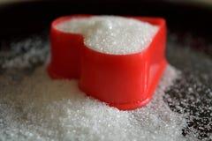 Plan rapproché de coeur doux d'amour de sucre Photo stock