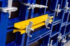 Plan rapproché de coffrage modulaire de cadre en acier photos stock