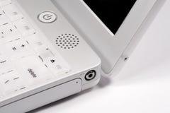 Plan rapproché de coin d'iBook Images stock