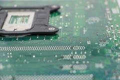 Plan rapproché de composant de carte mère d'ordinateur Image libre de droits