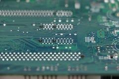 Plan rapproché de composant de carte mère d'ordinateur Image stock