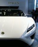 Plan rapproché de concept d'Esprit de lotus au Salon de l'Automobile de Paris Photographie stock