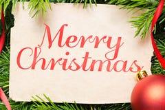 Plan rapproché de concept de Joyeux Noël Décoration de Noël Images libres de droits
