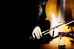 Plan rapproché de concert de violoncelle Images libres de droits