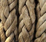 Plan rapproché de corde de bateau. Fond nautique. Photographie stock libre de droits