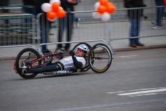 Plan rapproché de coureur de marathon de 2014 NYC Photos libres de droits