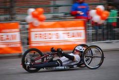 Plan rapproché de coureur de marathon de 2014 NYC Images stock