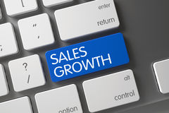 Plan rapproché de croissance de ventes de clavier 3d Images libres de droits