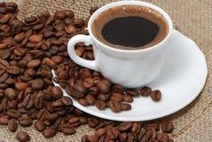 Plan rapproché de cuvette de café Photos stock