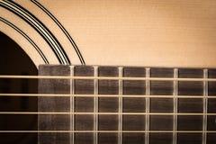 Plan rapproché de détail de guitare classique Photos stock