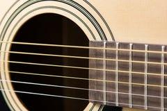 Plan rapproché de détail de guitare classique Image libre de droits
