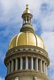Plan rapproché de dôme de Chambre d'état du New Jersey Photos libres de droits