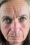 Plan rapproché de dame âgée photos stock