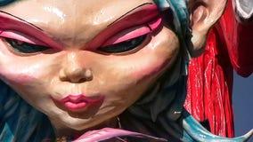 Plan rapproché de danseur de flotteur de souris de carnaval d'organisation du traité central grand photo libre de droits