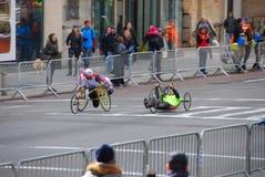 Plan rapproché de 2014 de NYC coureurs de marathon Images libres de droits