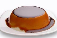 Plan rapproché de dessert de crème de café avec le chemin de découpage Photos libres de droits