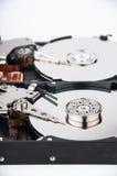 Plan rapproché de deux lecteurs de disque dur Image libre de droits