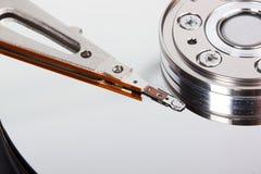 Plan rapproché de disque ouvert d'unité de disque dur Photo stock