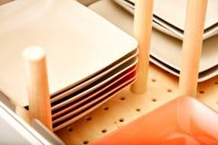 Diviseur dans le tiroir de plat Image stock