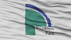 Plan rapproché de drapeau de ville de Brooklyn Park Photo libre de droits