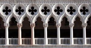 Plan rapproché de façade de Palais des Doges image libre de droits
