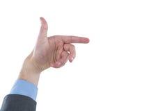 Plan rapproché de faire des gestes de mains d'affaires Image libre de droits