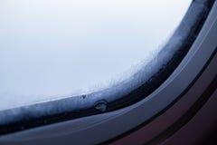 Plan rapproché de fenêtre dans le gel Photos libres de droits