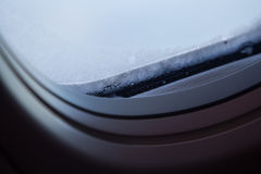 Plan rapproché de fenêtre dans le gel Photo libre de droits