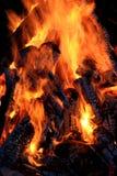 Plan rapproché de flamme Photo libre de droits