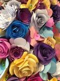 Plan rapproché de fleurs de papier Images libres de droits