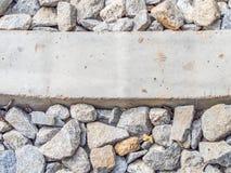 Plan rapproché de fond de bloc de gravier et de ciment Images libres de droits