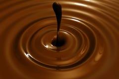 Plan rapproché de fond de pastille de chocolat Images libres de droits