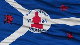 Plan rapproché de fort Wayne City Flag Image libre de droits
