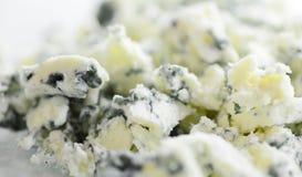 Plan rapproché de fromage bleu image stock