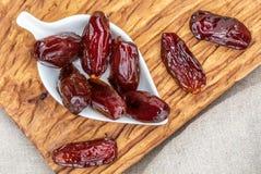 Plan rapproché de fruit juteux de dates photo libre de droits