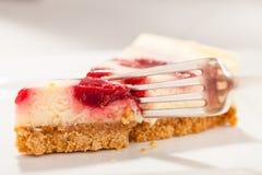 Plan rapproché de gâteau au fromage photographie stock