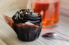 Plan rapproché de gâteau de chocolat Photo libre de droits