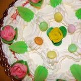 Plan rapproché de gâteau d'anniversaire Photographie stock