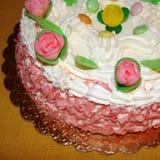 Plan rapproché de gâteau d'anniversaire Photos stock
