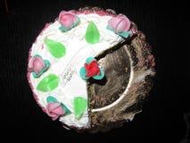 Plan rapproché de gâteau d'anniversaire Images libres de droits