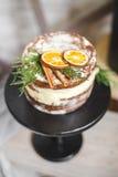 Plan rapproché de gâteau de biscuit Photo stock