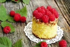Plan rapproché de gâteau de framboise Image libre de droits