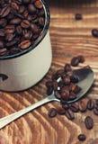 Plan rapproché de graines de café Images libres de droits