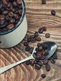 Plan rapproché de graines de café Photo libre de droits