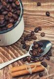 Plan rapproché de graines de café Photographie stock libre de droits