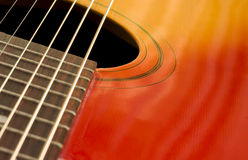 Plan rapproché de guitare photographie stock