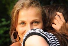 Plan rapproché de jeune dame Photo libre de droits