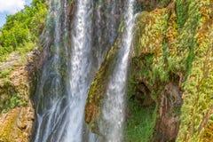 Plan rapproché de Krcic de cascade Images libres de droits
